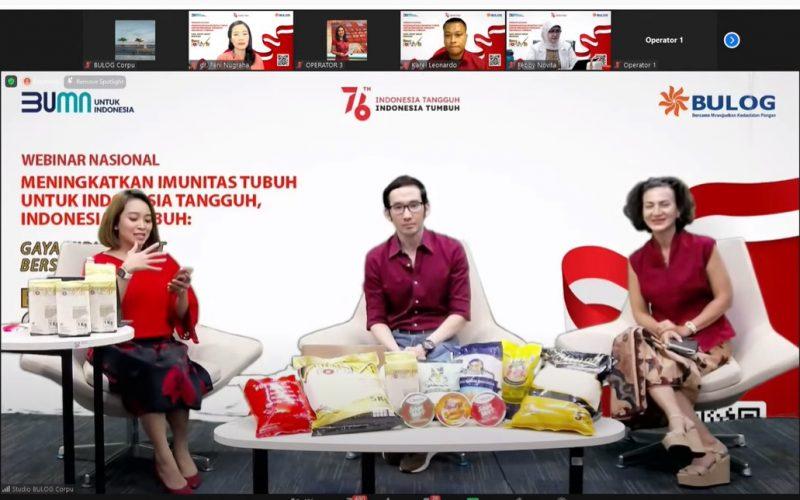 BULOG Gelar Webinar Gaya Hidup Sehat Bersama Beras Fortivit
